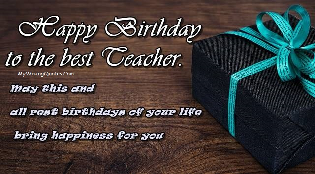Best Birthday Saying For Teacher