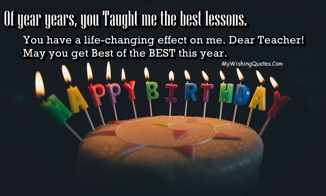 Happy Birthday To The Best Teacher