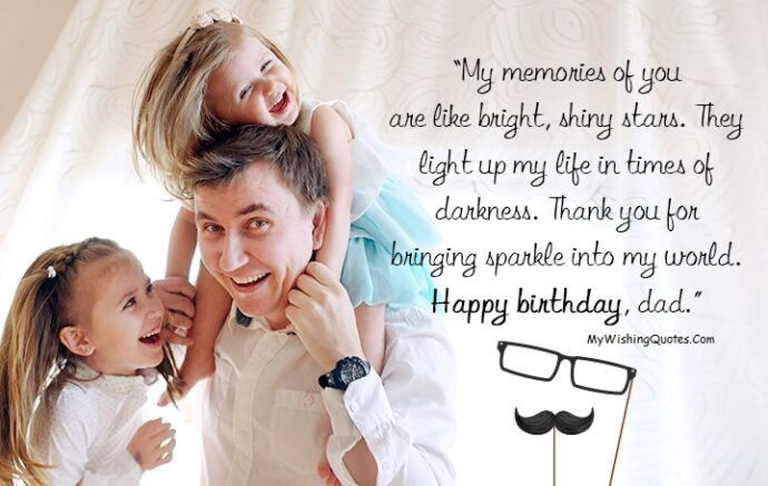 Sweet Birthday Wishes For Father