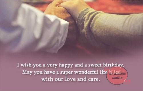 Short Birthday Wishes For Husband