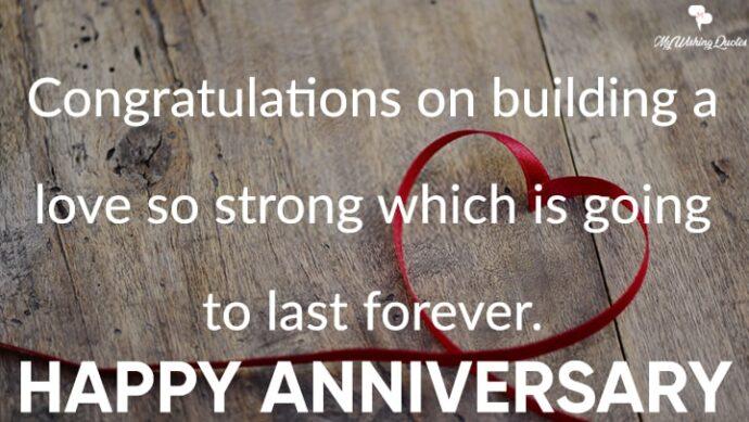 Happy Anniversary Congratulations